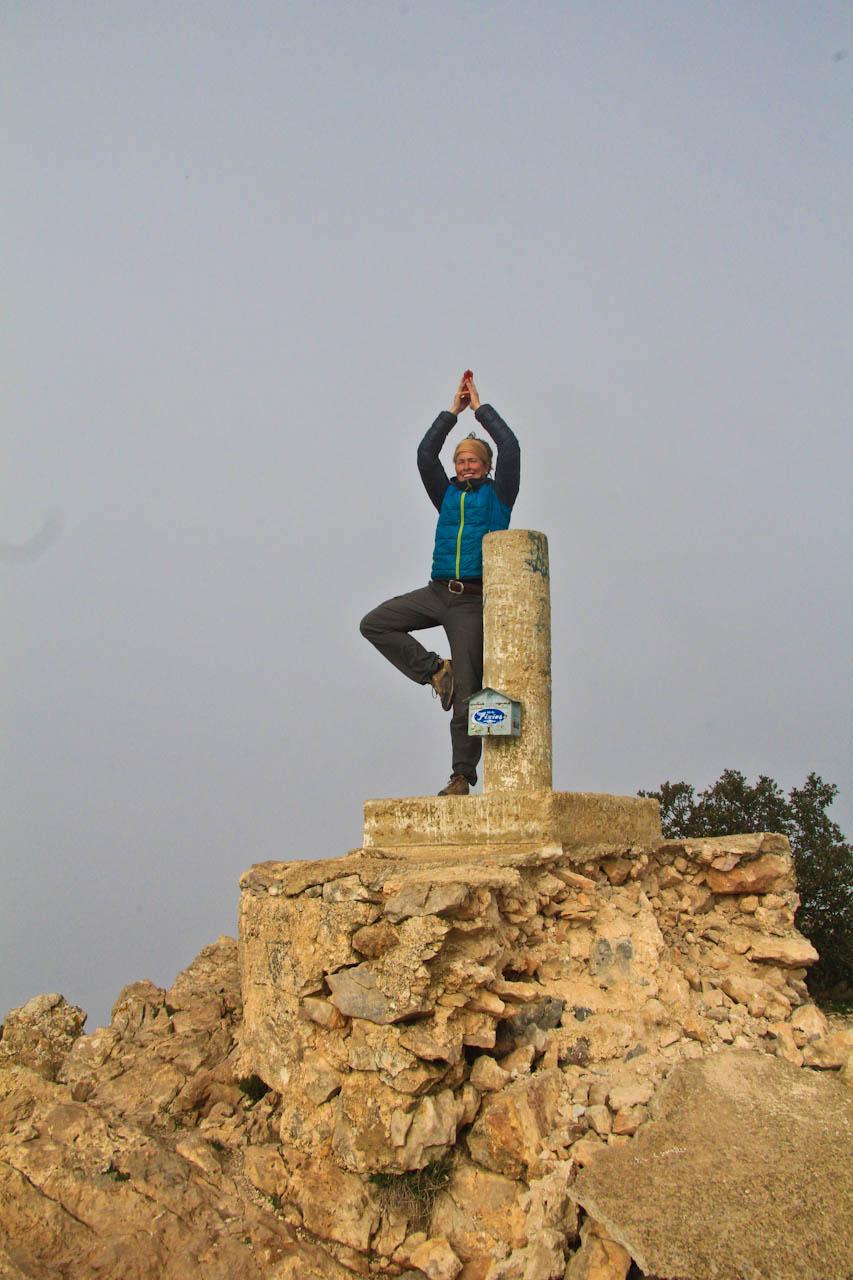 Kris on the summit