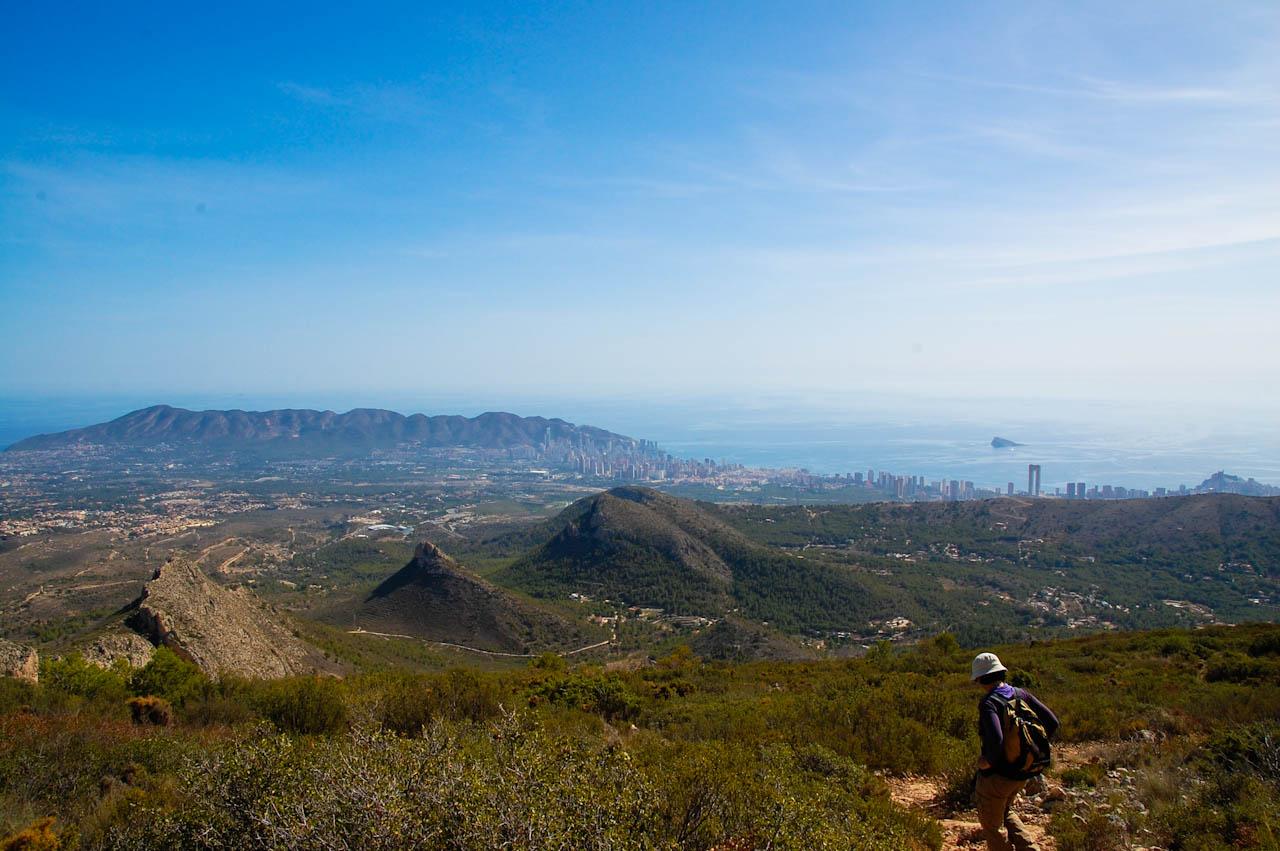 Beautiful view towards the Mediterranean