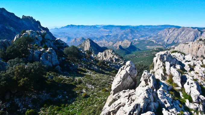 November sun and brilliant view towards Sella and the Castellet Ridge.
